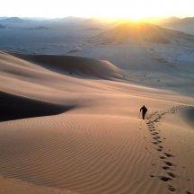 Naujametinė dykumos saulė